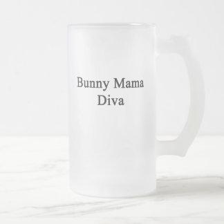 Bunny Mama Diva 16 Oz Frosted Glass Beer Mug