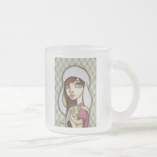 Bunny Mania Frosted Glass Coffee Mug