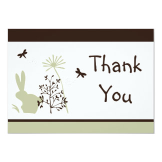 Bunny Meadow Thank You Card
