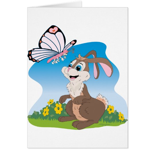 Bunny meets Butterfly Card