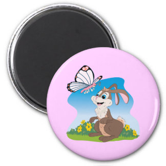 Bunny meets Butterfly Magnet
