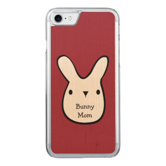 Bunny Mom (customizable) Carved iPhone 7 Case