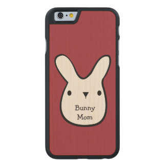 Bunny Mom (customizable) Carved® Maple iPhone 6 Slim Case