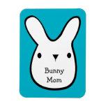 Bunny Mom  (customizable) Rectangular Photo Magnet