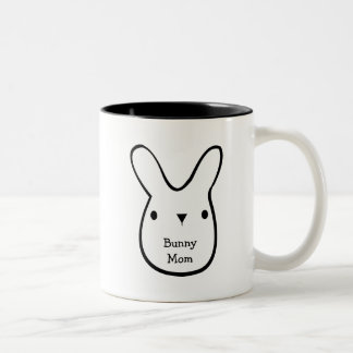 Bunny Mom (customizable) Two-Tone Coffee Mug