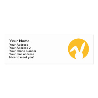Bunny moon Double-Sided mini business cards (Pack of 20)