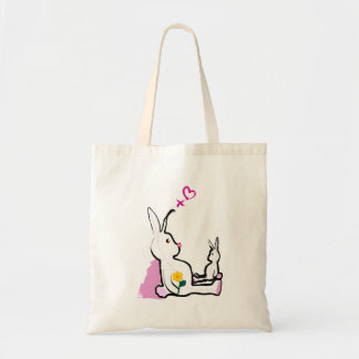 Bunny mummy tote bags
