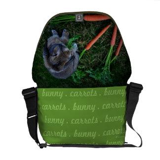 Bunny Munches Carrots / Messenger Bag