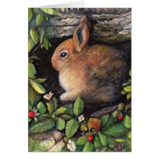 Bunny 'n berries card