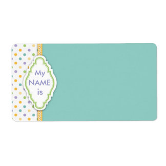 Bunny Name Tag B Custom Shipping Label
