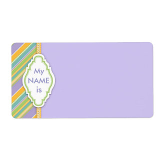 Bunny Name Tag Labels