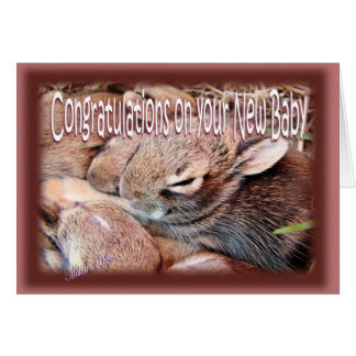 Bunny-newbaby-customize Card