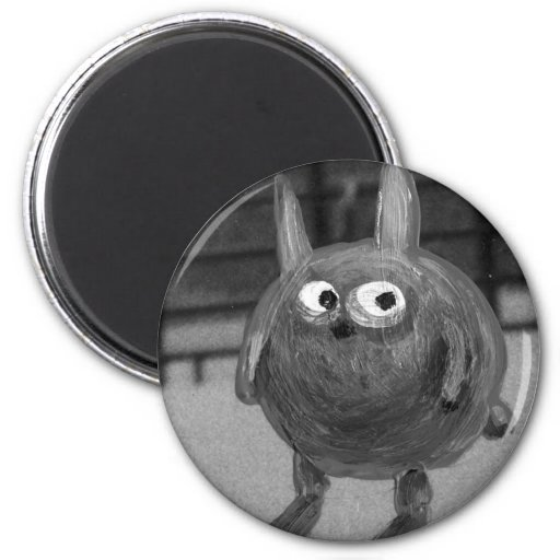 Bunny Noir 2 Inch Round Magnet