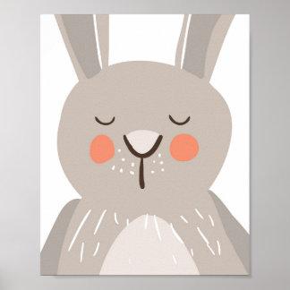 Bunny nursery art print Woodland Some bunny