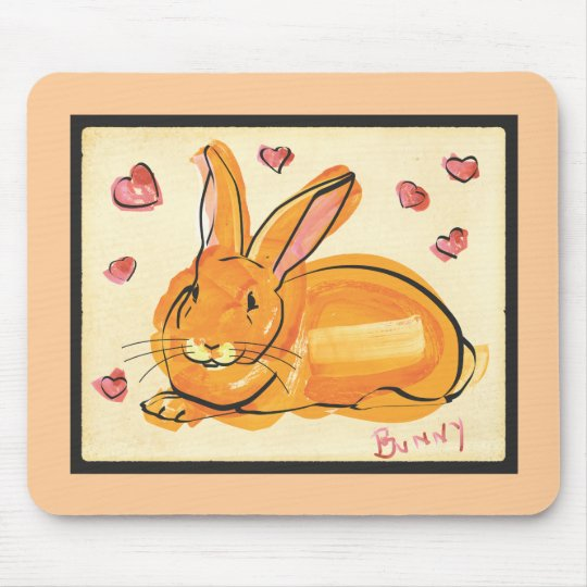 BUNNY OF LOVE MOUSE PAD