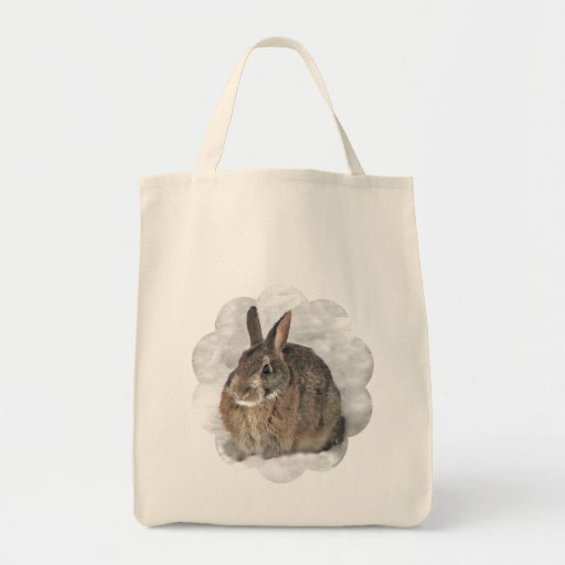Bunny on a Tote Bags