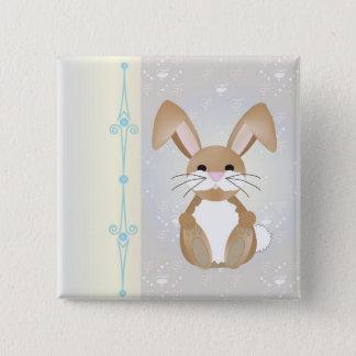 Bunny on Blue Button