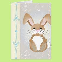 Bunny on Blue Card