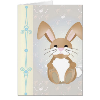 Bunny on Blue Card