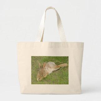 Bunny On Break Large Tote Bag