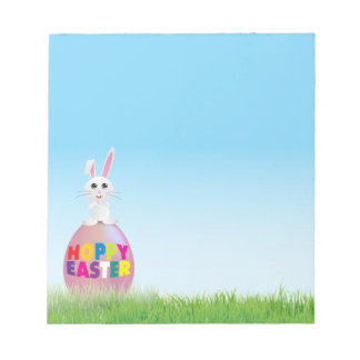 Bunny on Easter Egg Note Pad