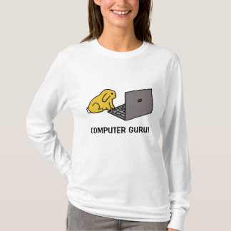 bunny on laptop, COMPUTER GURU! T-Shirt