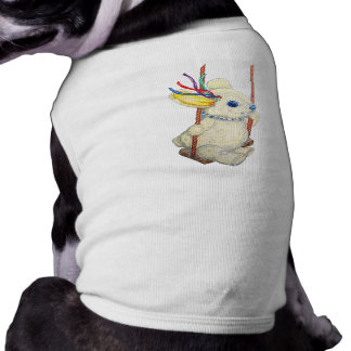 Bunny on Swing Doggy Warmer Top Pet T-shirt