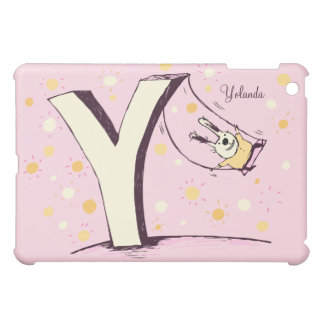 Bunny on Swing Letter Y iPad Mini Case