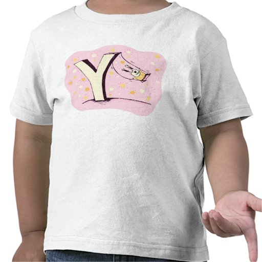 Bunny on Swing Letter Y T Shirt