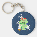 bunny painting egg key chains