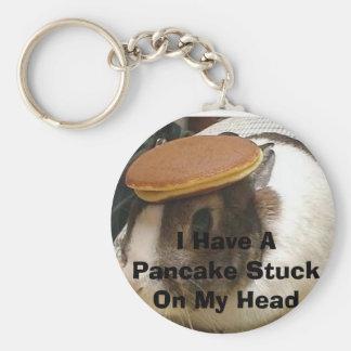 bunny_pancake, tengo una crepe pegada en mi cabeza llavero redondo tipo pin