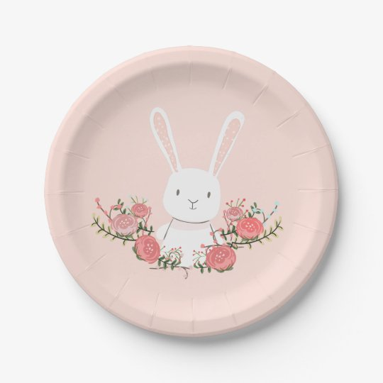 Bunny Paper Plates Baby shower Woodland Pink Girl  sc 1 st  Zazzle & Bunny Paper Plates Baby shower Woodland Pink Girl | Zazzle.com