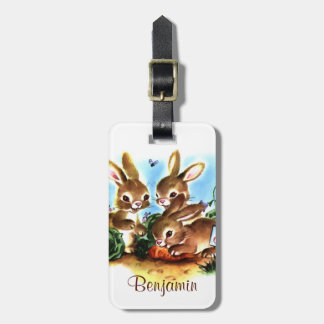 Bunny Patch Bag Tag