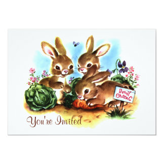 Bunny Patch 5x7 Paper Invitation Card