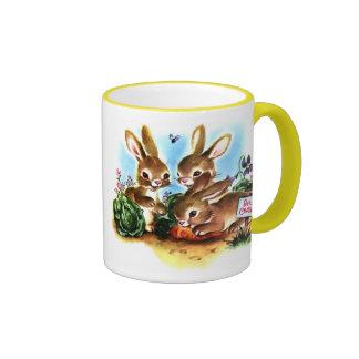 Bunny Patch Ringer Coffee Mug