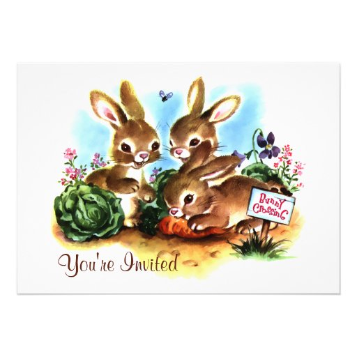 Bunny Patch Personalized Invite