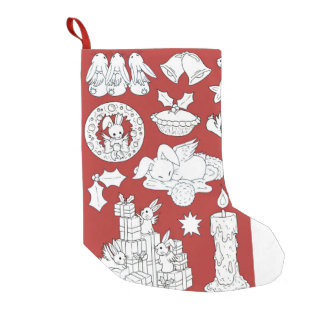 Bunny pattern - Holiday stocking