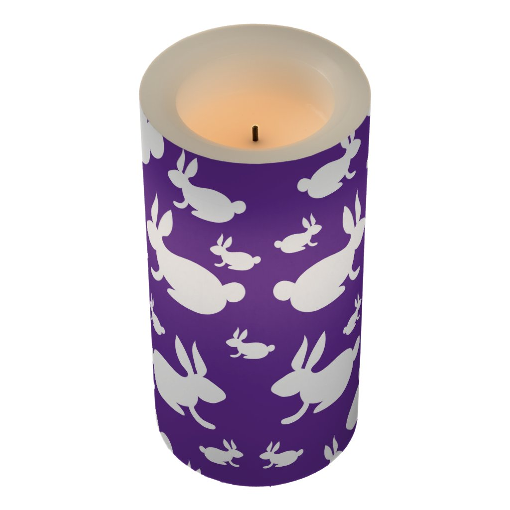 Bunny Pattern LED Candle
