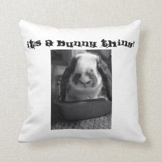 Bunny pillow throw pillow