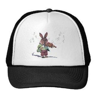 Bunny Playing the Violin Mesh Hat