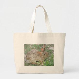 Bunny Ponders Weed Large Tote Bag