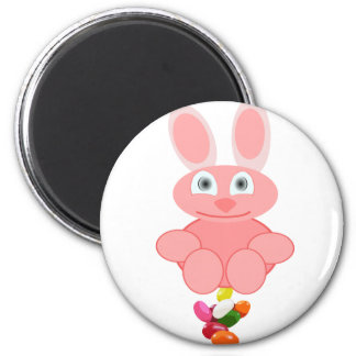 Bunny Poop Jelly Beans 2 Inch Round Magnet