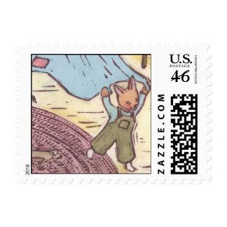 Bunny Postage Stamp