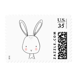 Bunny Postage Stamps Woodland Animals Cute Shower