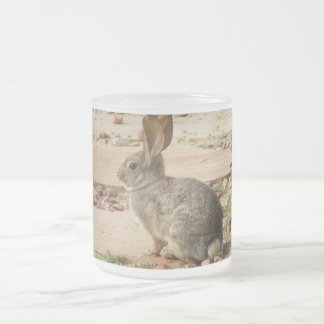 Bunny Profile Frosted Glass Mug