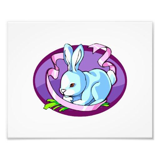 bunny purple ribbon lilac oval.png art photo