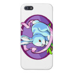 bunny purple ribbon lilac oval.png case for iPhone 5