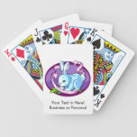 bunny purple ribbon lilac oval.png bicycle card deck