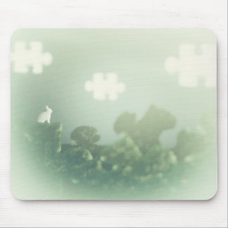 BUNNY Puzzle Land Jigsaw Clouds Grass Customizable Mouse Pad