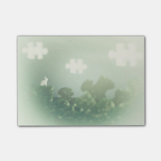 BUNNY Puzzle Land Jigsaw Clouds Grass Customizable Post-it® Notes